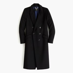 JCREW Long double-breasted topcoat wool-cashmere